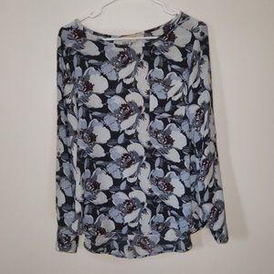 LOFT M Womens floral blouse